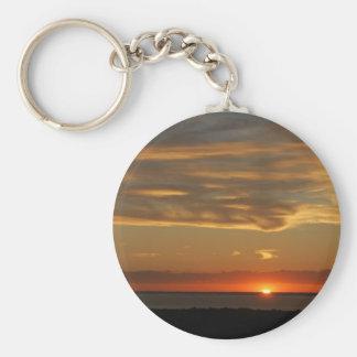 Puesta del sol en la costa este llaveros personalizados