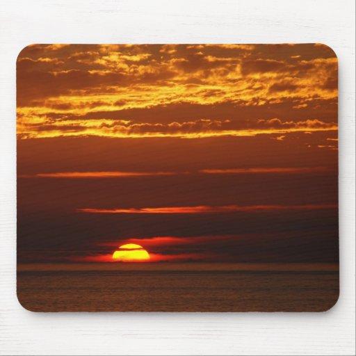 Puesta del sol en la costa oeste de Oporto Covo de Alfombrillas De Ratones