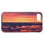 Puesta del sol en la estación de Palmer iPhone 5 Case-Mate Carcasa
