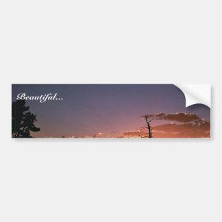 Puesta del sol en la garganta llameante en Utah Etiqueta De Parachoque