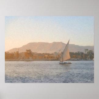 Puesta del sol en la impresión de Luxor Posters