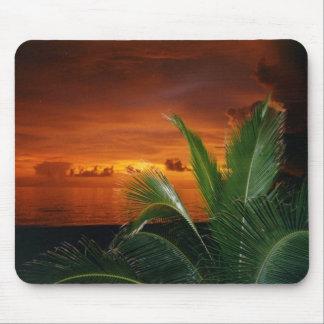 Puesta del sol en la isla de Ana Maria Alfombrillas De Raton