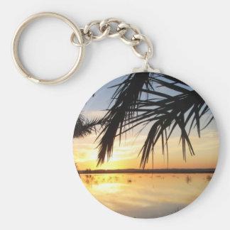 Puesta del sol en la isla de Fatnas, oasis de Siwa Llaveros