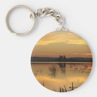 Puesta del sol en la isla de Fatnas, oasis de Siwa Llaveros Personalizados