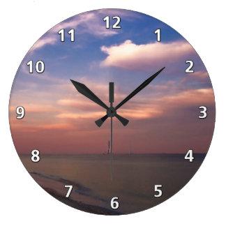 Puesta del sol en la isla de Sanibel Reloj De Pared