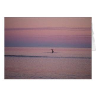 Puesta del sol en la isla de Sullivan, SC Tarjeta De Felicitación