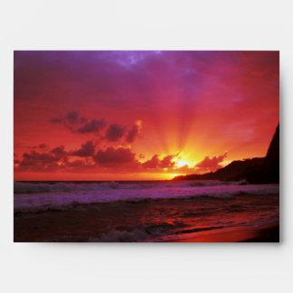 Puesta del sol en la isla sobre
