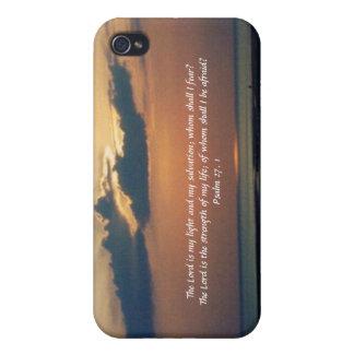 Puesta del sol en la Mar-Escritura iPhone 4/4S Fundas