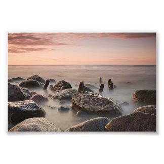 Puesta del sol en la orilla del mar Báltico Fotografía