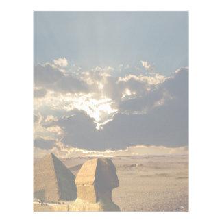 Puesta del sol en la pirámide de Cheops Membrete
