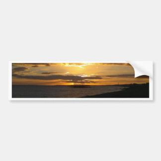 Puesta del sol en la playa de Brighton Pegatina Para Auto