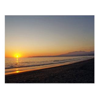 Puesta del sol en la playa de Bucerias, México Postal