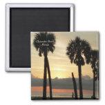 Puesta del sol en la playa de Clearwater Imán De Nevera