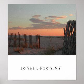 Puesta del sol en la playa de Jones Impresiones