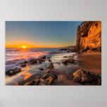 Puesta del sol en la playa de Victoria Póster