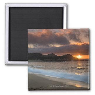 Puesta del sol en la playa del monasterio, Carmel, Imán