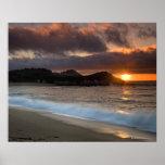 Puesta del sol en la playa del monasterio, Carmel, Impresiones