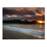 Puesta del sol en la playa del monasterio, Carmel, Postal