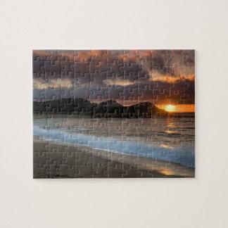 Puesta del sol en la playa del monasterio, Carmel, Rompecabeza