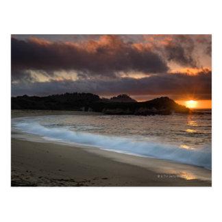 Puesta del sol en la playa del monasterio, Carmel, Tarjetas Postales