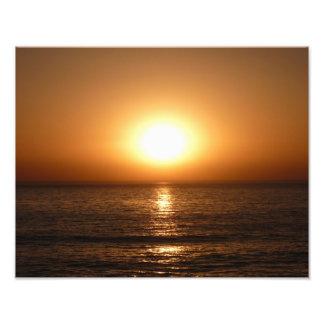 Puesta del sol en la playa del océano, San Diego Impresiones Fotograficas