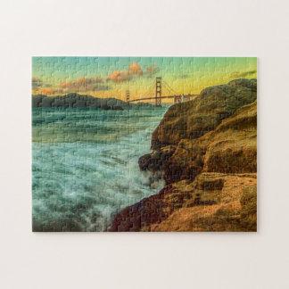 Puesta del sol en la playa del panadero puzzles con fotos