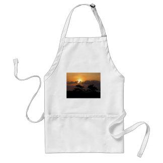 Puesta del sol en la playa delantal