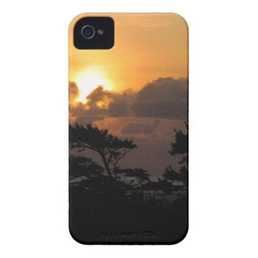 Puesta del sol en la playa iPhone 4 Case-Mate cobertura