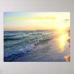 Puesta del sol en la playa la Florida de ciudad de Posters