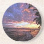 Puesta del sol en la playa posavasos manualidades