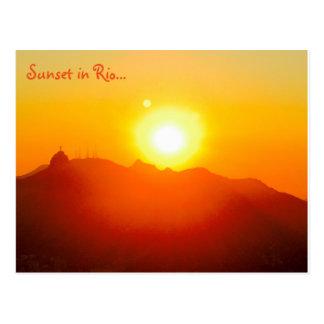 Puesta del sol en la postal de Río…
