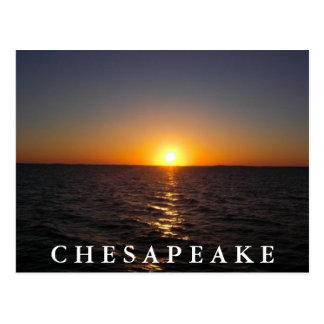 Puesta del sol en la postal del Chesapeake