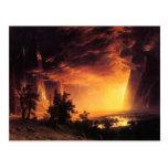 Puesta del sol en la postal del valle de Yosemite