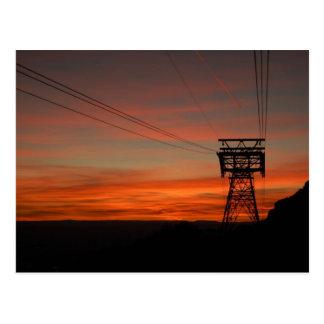 Puesta del sol en la postal máxima de Sandia