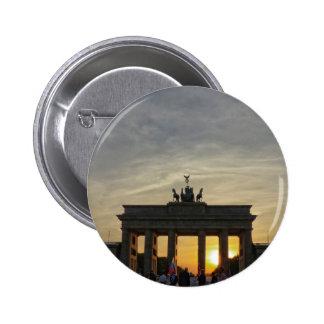Puesta del sol en la puerta de Brandeburgo, Berlín Chapa Redonda 5 Cm