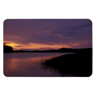Puesta del sol en la reserva Alaska de Innoko Imanes De Vinilo