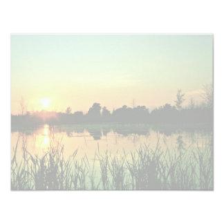 """Puesta del sol en la reserva nacional Iroquois Invitación 4.25"""" X 5.5"""""""