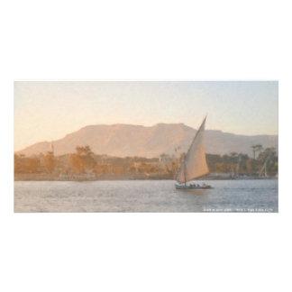 Puesta del sol en la tarjeta de la foto de Luxor Tarjetas Con Fotos Personalizadas