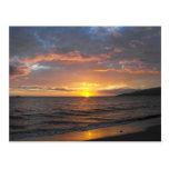 Puesta del sol en Lahaina, Maui, Hawaii Postal