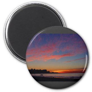 Puesta del sol en las orillas de La Jolla Iman De Frigorífico