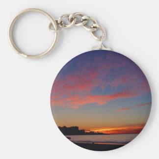 Puesta del sol en las orillas de La Jolla Llaveros Personalizados