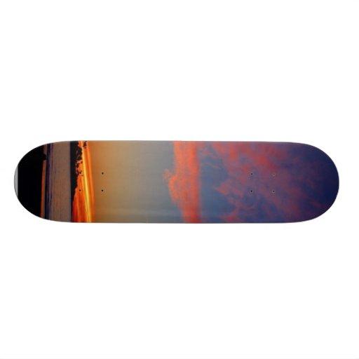 Puesta del sol en las orillas de La Jolla Tabla De Skate
