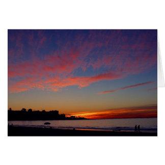 Puesta del sol en las orillas de La Jolla Felicitaciones
