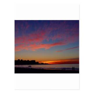 Puesta del sol en las orillas de La Jolla Tarjeta Postal