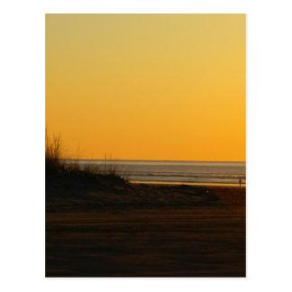 Puesta del sol en Long Beach Washington Postales