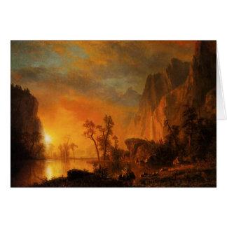Puesta del sol en los Rockies Tarjeta De Felicitación