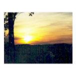 puesta del sol en los smokies #68 tarjetas postales