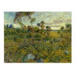 Puesta del sol en Montmajour de Van Gogh Postales