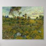 Puesta del sol en Montmajour de Van Gogh Poster