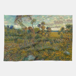 Puesta del sol en Montmajour de Vincent van Gogh
